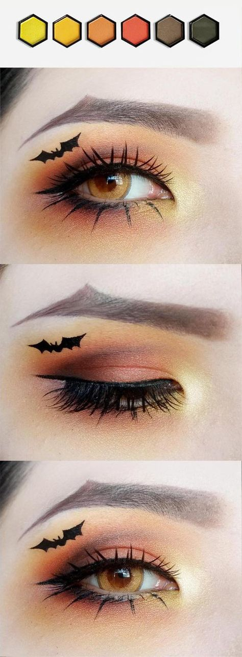 Looking for for ideas for your Halloween make-up? Navigate here for cute Halloween makeup looks. Creative Eye Makeup, Eye Makeup Art, Goth Makeup, Scary Makeup, Joker Makeup, Horror Makeup, Zombie Makeup, Makeup Eyes, Halloween Noir