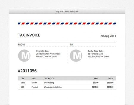 This is our Bold Blue Xero Invoice Template Itu0027s bold rerr - credit note templates