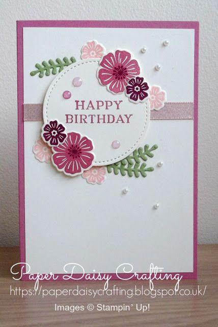 Inspireink Blog Hop Featuring Beautiful Bouquet From Stampin Up Cards Handmade Floral Cards Flower Cards