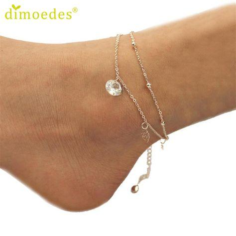 Women Lady Gold Chain Cross Pendant Anklet Ankle Sandal Barefoot Beach Bracelet
