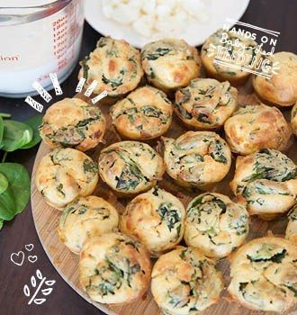 Spinach Goat Cheese And Thyme Muffins Recipe Baby Food Recipes Food Spinach Cheese