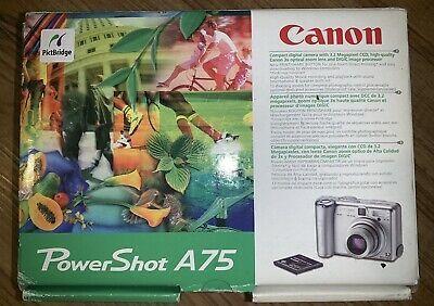 Canon Powershot A75 3 2 Megapixels Silver Digital Camera 3x Digital Camera Powershot Canon Powershot