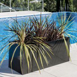 Verzinkter Blumenkasten 32cm X 75cm X 32cm Dunkelgrau Primrose Dunkelgrau Dunkelheit Und Wasserflecken