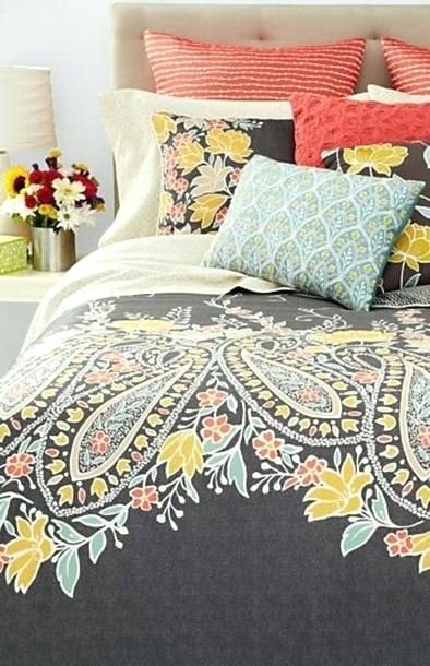 Coral And Turquoise Bedding Home Accessory Paisley Coral Turquoise