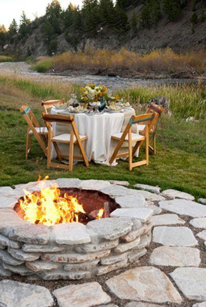 3 Unbelievable Ideas Large Rock Fire Pit Fire Pit Seating Patio