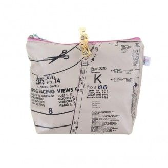 disaster designs needle and thread make up bag