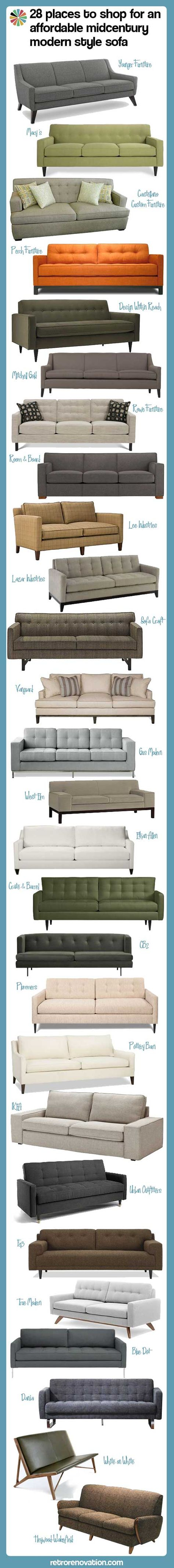 28 places to shop for a midcentury style sofa