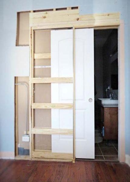 16 Ideas Pocket Door Bathroom Diy How To Build Diy Howto