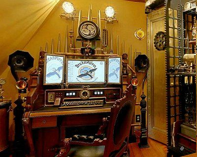 Steampunk: Lots Of Examples Of Rooms, Home Decor, Murals, Accessories, And