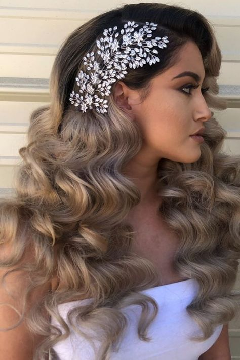 Best Indoor Garden Ideas for 2020 The number of internet users who are looking for… Hair Comb Wedding, Wedding Hair Down, Headpiece Wedding, Wedding Hair And Makeup, Wedding Hair Accessories, Bridal Hair, Hair Piece Wedding, Headband Wedding Hair, Elegant Wedding Hairstyles