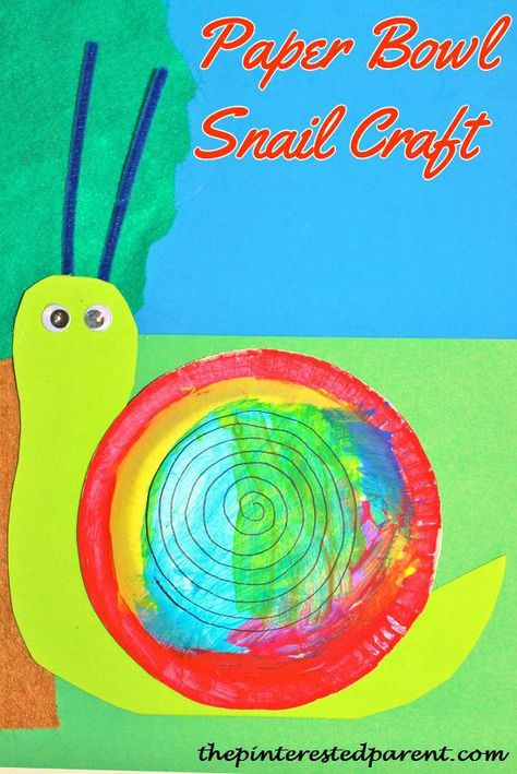 paper bowl snail craft. check out this and other fun activities