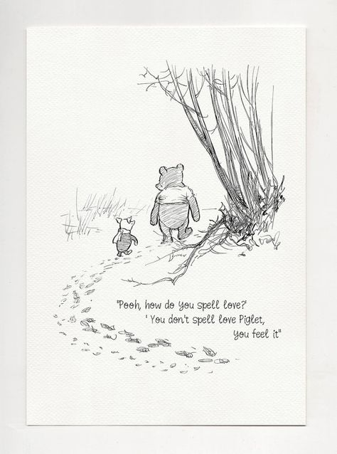 High quality print - Winnie the Pooh quote print based on original drawing by Ernest Howard Shepard.  --------------SIZE------------  A3: 297 mm x 420 mm (8.3″ x 11.7″ ) A4: 210 mm x 297 mm (8.3″ x 11.7″ ) A5: 148 mm x 210 mm ( 5.8″ x 8.3″) 5x7: 130 mm x 180 mm (5″ x 7″)  ----------- PAPER ---------- Canson Mi Teines (160g) You can choose of two colors of paper: VINTAGE - It is a warm and quite dark shade of white, very similar to the color of old yellowed paper.  WHITE - Just standard white ...