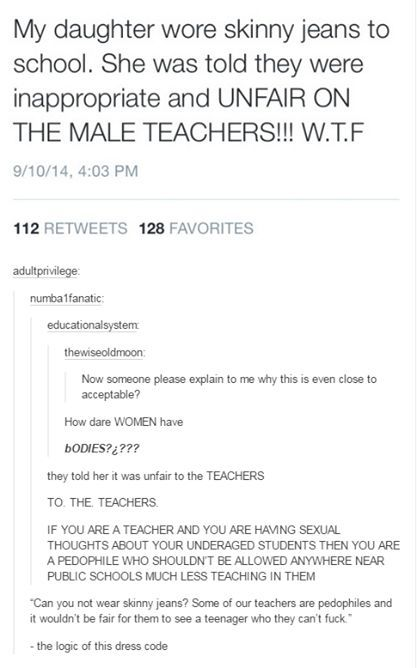 The ridiculously stupid logic of dress codes. | 17 Times Feminists Completely Smashed The Patriarchy: