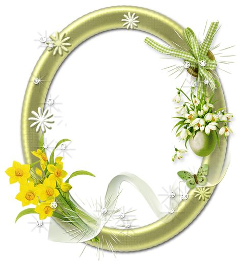 Cute Oval Png Photo Frame With Flowers Flower Frame Png Flower Frame Photo Frame Prop