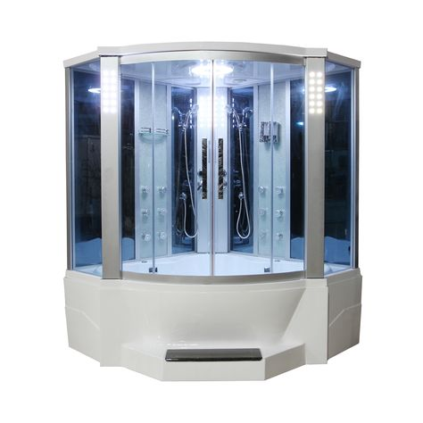 Shop Eagle Bath Corner Steam Shower With Whirlpool Bathtub Combo At