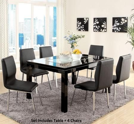 Acme Furniture 70985t6c 928 70 In 2021 Black Dining Room Sets Dining Table Legs Modern Dining Room Tables