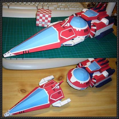 Ulysses 31 Shuttle Darts Orbos And Vires Free Paper Models