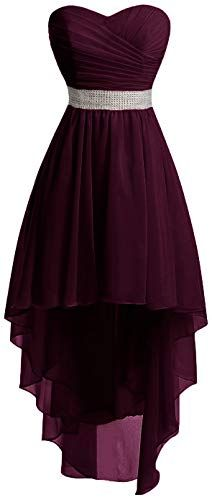 New Udresses Women A-Line Hi-Low Prom Dress Chiffon Beach Wedding Bridesmaid Gown FX99. Womens Plus Size Clothing  [$65.9] from top store chictopclothing