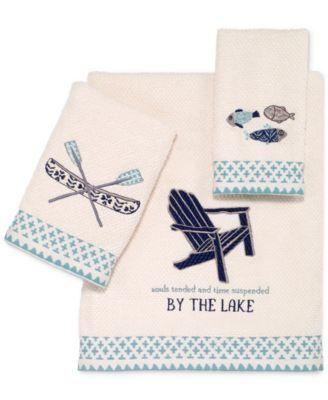 Bath Towels, Lake Life Bathroom Decor
