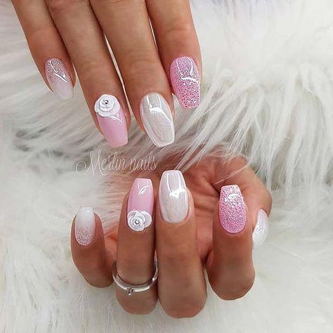 23 Hubsche Nail Art Designs Fur Kurze Acrylnagel Nagel Nails