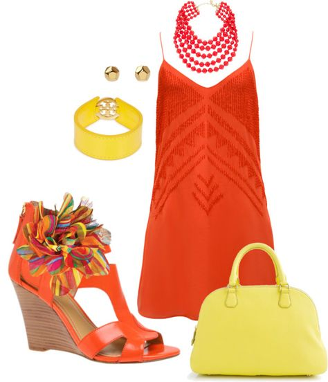 """coral flower"" by patriciamacri74 on Polyvore"