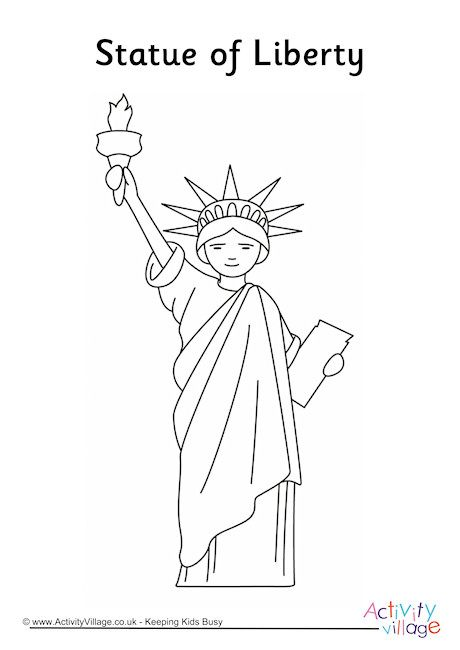 Statue Of Liberty Colouring Page 2 Statue Of Liberty Statue Of