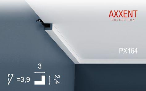 Orac Decor PX164 AXXENT Profilleiste Zierleiste Sockel Wand Decken - decke styroporplatten schnell sauber preiswert