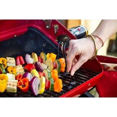 Americana 9300 Deluxe Electric Tabletop Grill Meco Black Red
