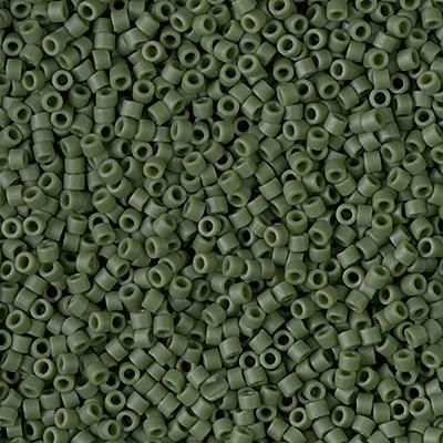 Delica 11//0 RD Green Avocado Opaque AB Matte