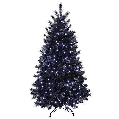 Black Christmas Tree Blue Lights Grunge Black Christmas Trees Christmas Tree Lighting 6ft Christmas Tree