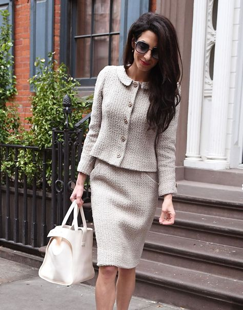 Take an Office Style Lesson from Amal Clooney and Her Handbags