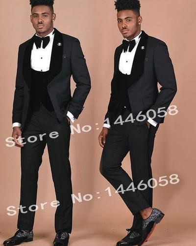 Suxiaoxi Mens Gentle 3 Pieces White Tuxedo Suits Slim Fit Groom Suits