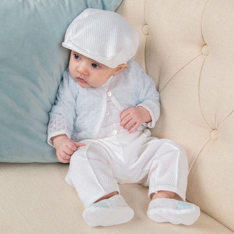 cb3e07ed6 Finn Christening Suit for Baby Boys - Boys Baptism Suit - Knit ...