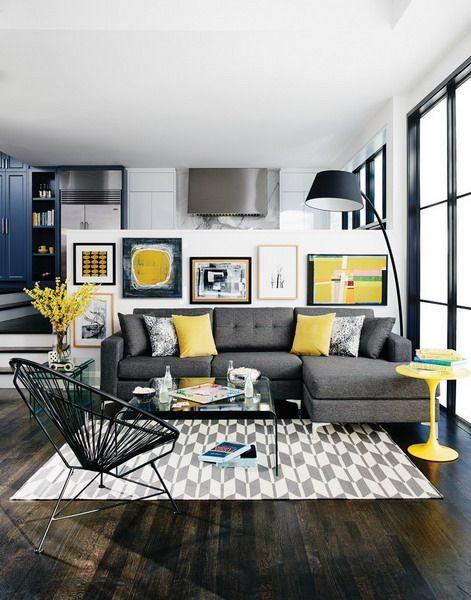 Resultado De Imagen Para Living Room Decor Trends Living Room Grey Yellow Living Room Interior Design Grey yellow living room decor