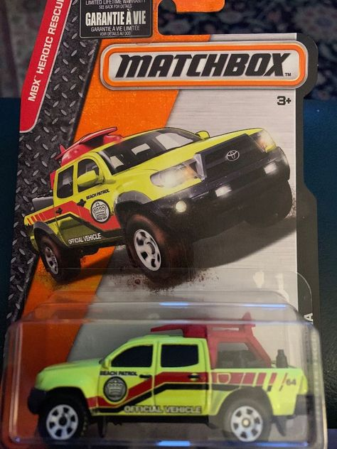 Matchbox 75 Toyota Tacoma Yellow Pickup Truck Mbx Heroic Rescue Ebay