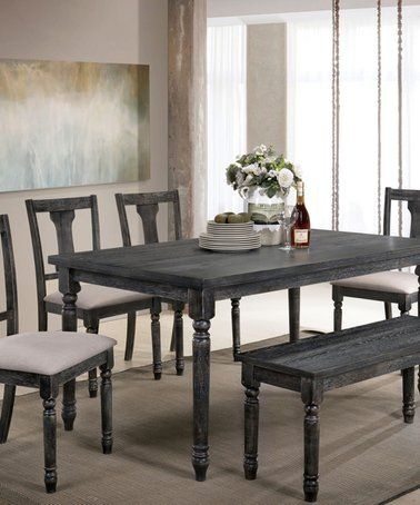 Loving This Gray Buford Rustic Six Piece Dining Set On Zulily