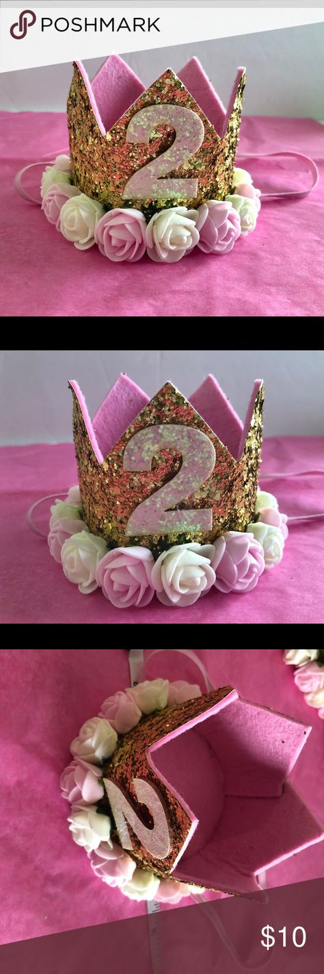 2nd Birthday Crown Adorable Photo Prop Super Cute Never Worn Perfect For Your 2 Year Old Beauty Queen Accessories Hair