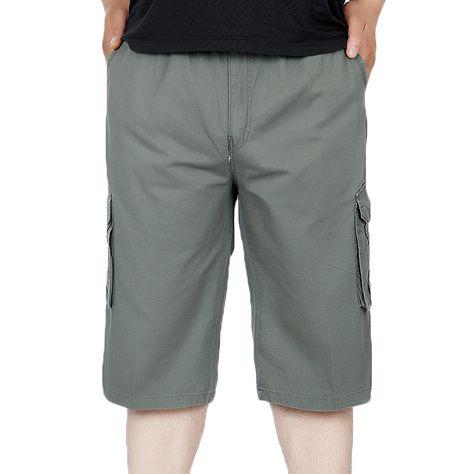 c677eba5ed544  US 24.71  Summer Mens Casual Plus Size Cargo Pants Breathable Loose Casual  Shorts  summer  mens  casual  plus  size  cargo  pants  breathable  loose    ...