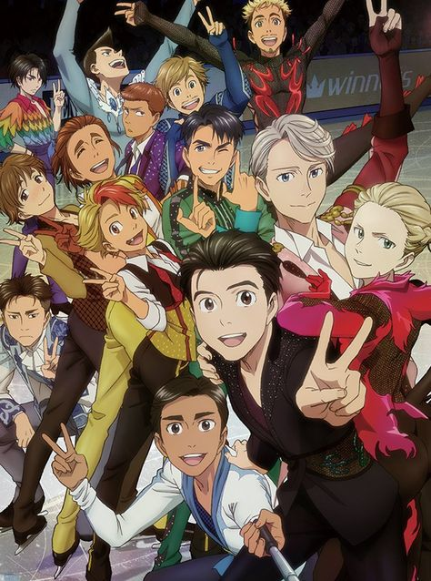 Official Yuri!!! On ICE Canvas Print -  Group Shot