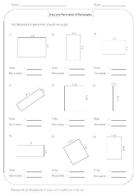 Finding The Perimeter Perimeter Worksheets Find The Perimeter Area And Perimeter