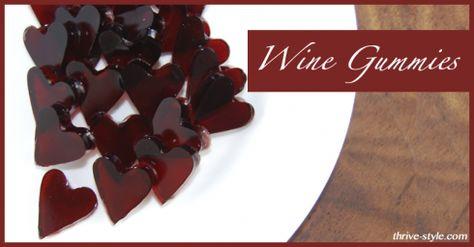 Wine Fruit Snacks - Gummy Wine Hearts - Not For Kids!