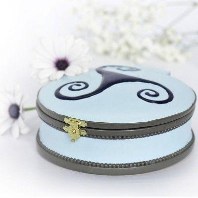 boite à bijoux musicale cendrillon ronde