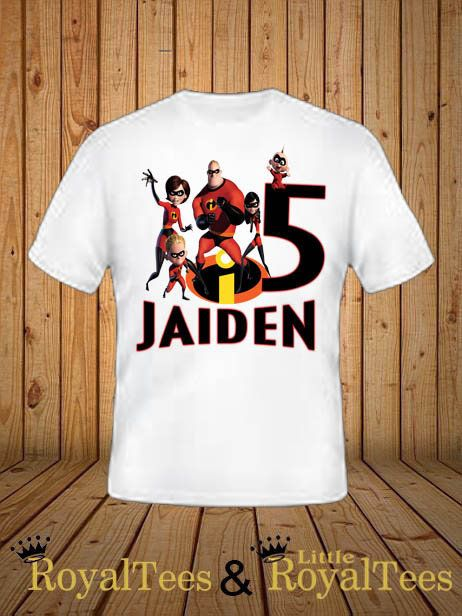 INSTANT DL- The Incredibles 2 Iron on Transfer you print- non personalized boy T Shirt digital file Birthday