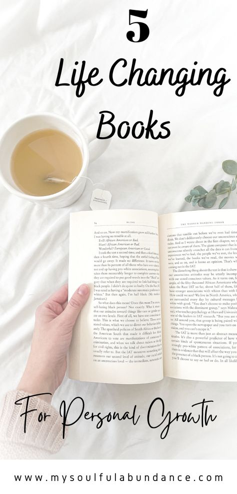 5 Life Changing Books for Personal Growth- Are you looking for books that will help you think differently? These self-help books will change your perspective and your life! #selfhelpbooks #motivational #personalgrowth #books