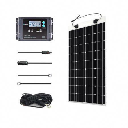 Renogy 100 Watt 12 Volt Solar Marine Kit With Ultra Flexible Solar Panel Waterproof Controll In 2020 Flexible Solar Panels Solar Panel Installation Solar Installation
