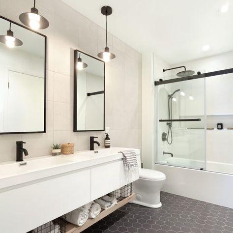 Tendance céramique pour la salle de bain  céramique hexagonale