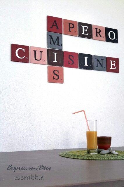 Deco Cuisine Scrabble Lettre Deco Lettre Scrabble Deco Deco
