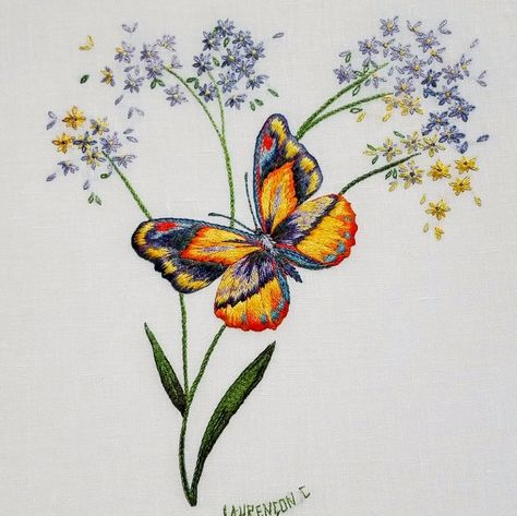 embrodiery Baby Butterfly is the two day...