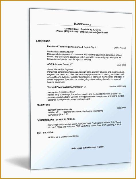 Neu Lebenslauf Vorlage 2016 Kostenlos Briefprobe