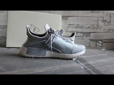 137bea334 The Cear On Foot Look of Pharrell x adidas Originals NMD Human Race TR .